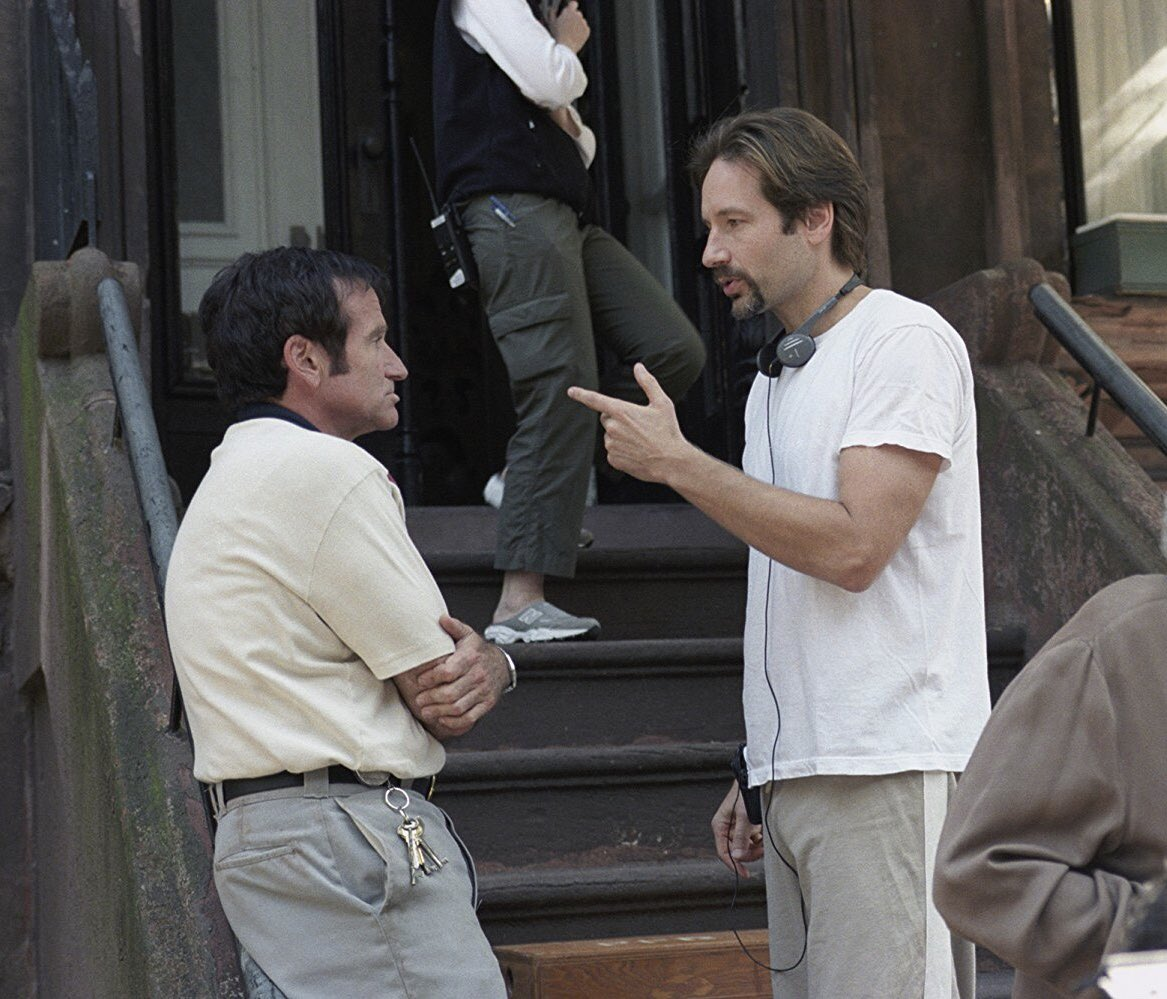 With my friend Robin on the set of House of D. Released today 2004. https://t.co/iRWpgyvhCx