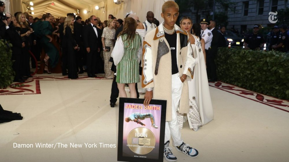 Jaden Smith is already there. He brought his gold record. https://t.co/D2eWDC8bIk
