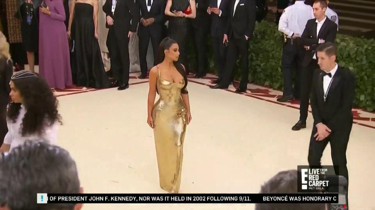 Trying to keep up with Kim Kardashian? Well, she just arrived at the MetGala.