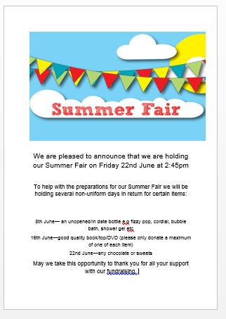 We are pleased to announce the date of our forthcoming Summer Fair! https://t.co/exlCzlj8vP