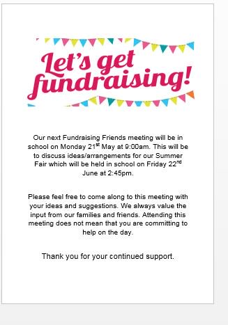 Our next Fundraising Friends meeting is on Monday 21st May - see flyer https://t.co/pKcQDOpKNF