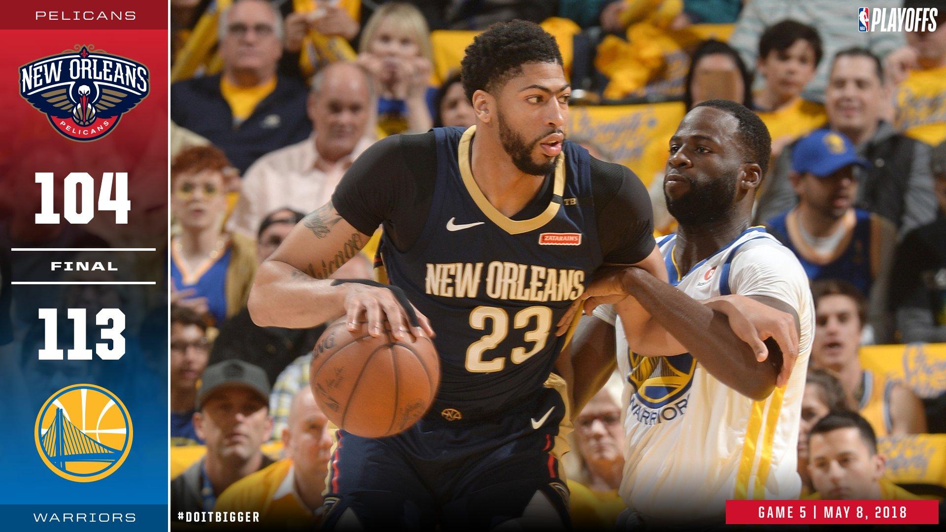 #Pelicans season ends in Oakland   Salute @Warriors   #NBAPlayoffs https://t.co/Ol8MaYwSy6