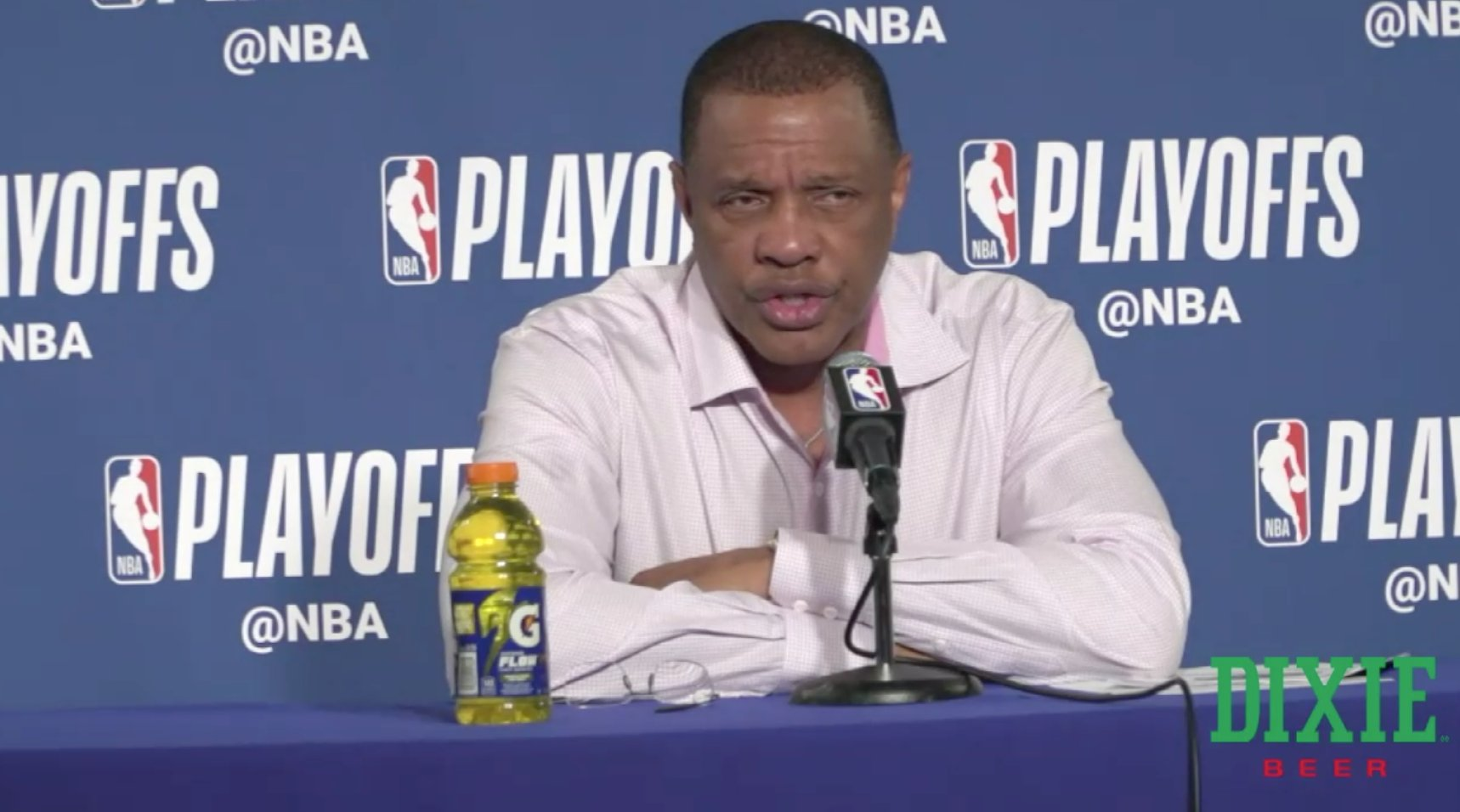 Gentry is speaking with the media postgame  Watch Live: https://t.co/GNKFCulHmC  (via @dixiebrewco)  #doitBIGGER https://t.co/UNBTqsZYHZ