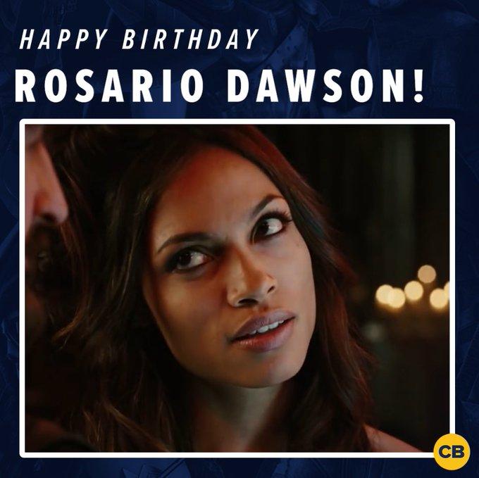Happy birthday to The Defenders star, Rosario Dawson!