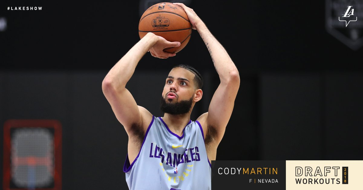 Working out for the #LakeShow today, @NevadaHoops forward Cody Martin https://t.co/QH4roDBTgL