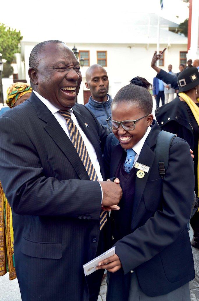 President Cyril Ramaphosa President Cyril Ramaphosa Interacting