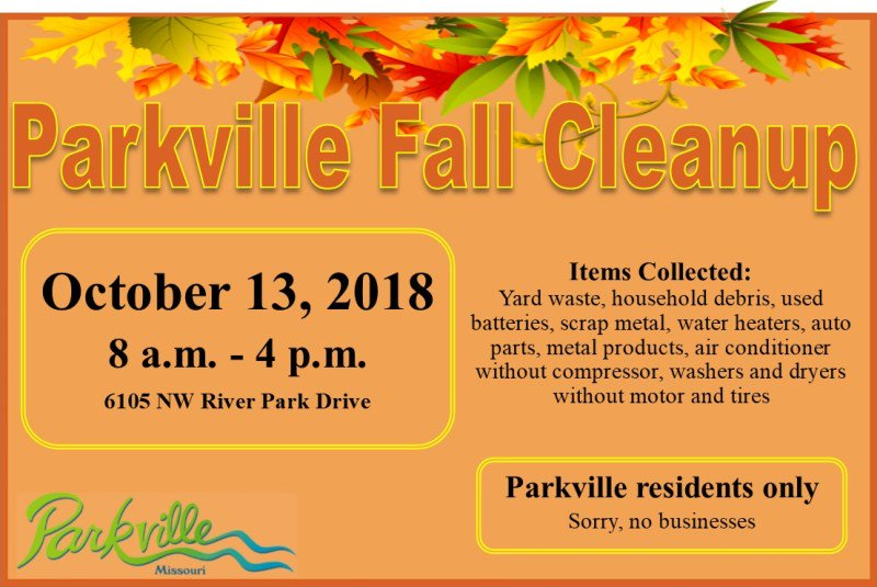 test Twitter Media - Save the date! @parkvillemo will hold its annual Fall Cleanup on Saturday, October 13th 8am-4pm at 6105 NW River Park Drive. https://t.co/s9BfTH4Oof