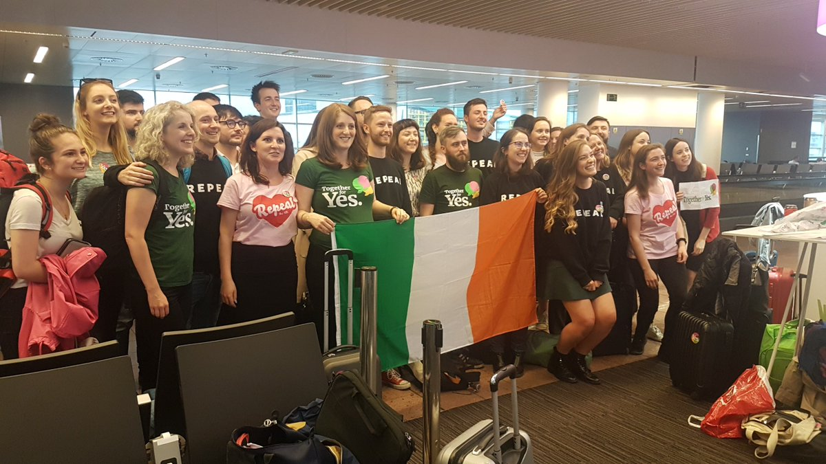 RT @paulamkehoe: Brussels airport boarding to Dublin. The passengers on one flight #hometovote #Repealthe8th https://t.co/pGyoanvFT3
