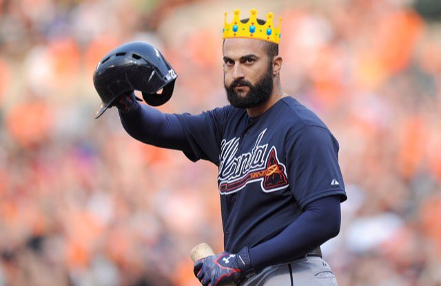 test Twitter Media - Don't let the fact that the #Braves got shut out twice in 3 games distract you from the fact that Nick Markakis, out of Young Harris, has the most hits in the majors, the 2nd-fewest strikeouts in the NL, and a higher wRC+ than Bryce Harper this season https://t.co/egUGQuRyiw