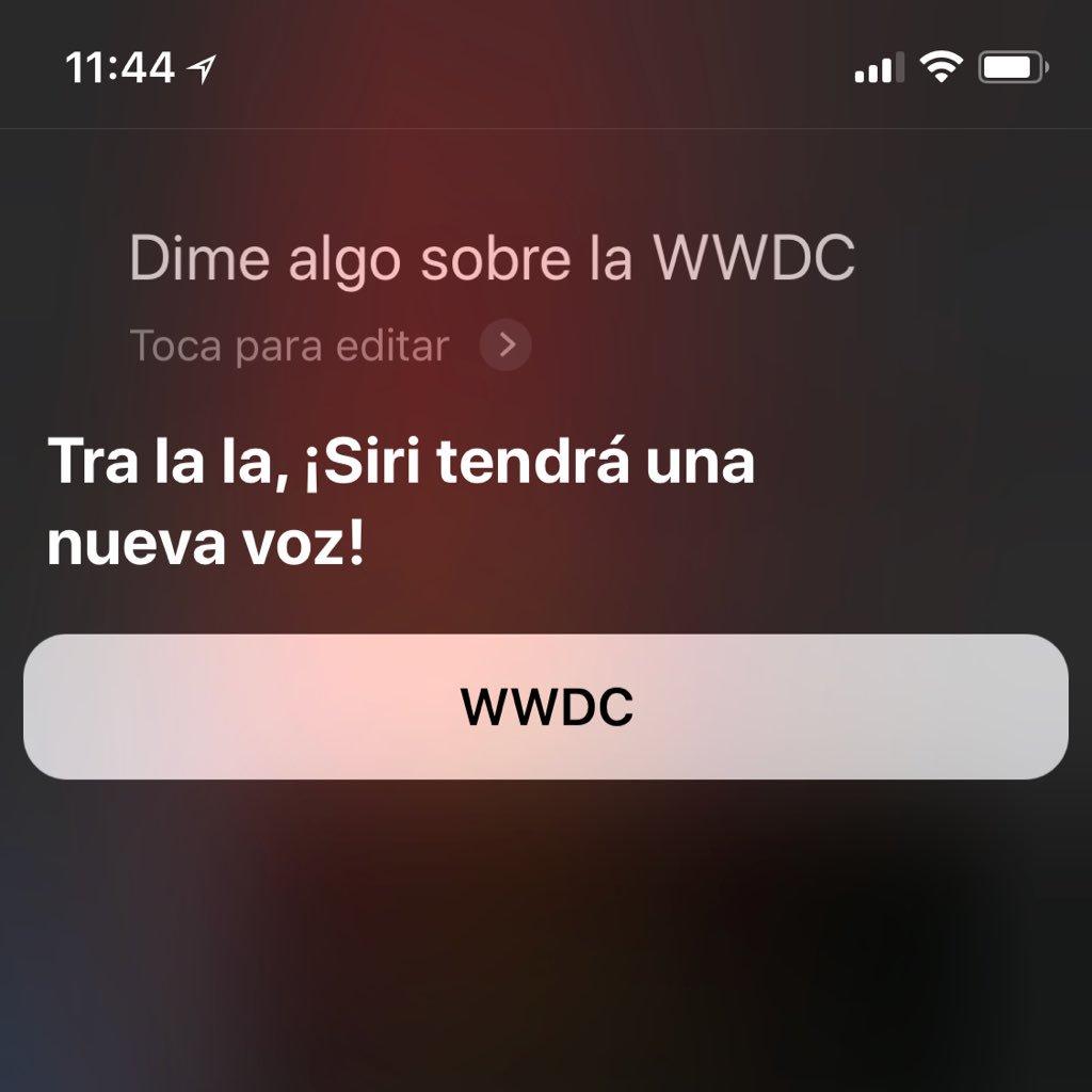 Se acerca la WWDC de Apple y Siri desvela algunos detalles, como su nueva voz y que será más inteligente... https://t.co/V0boAv3M1B
