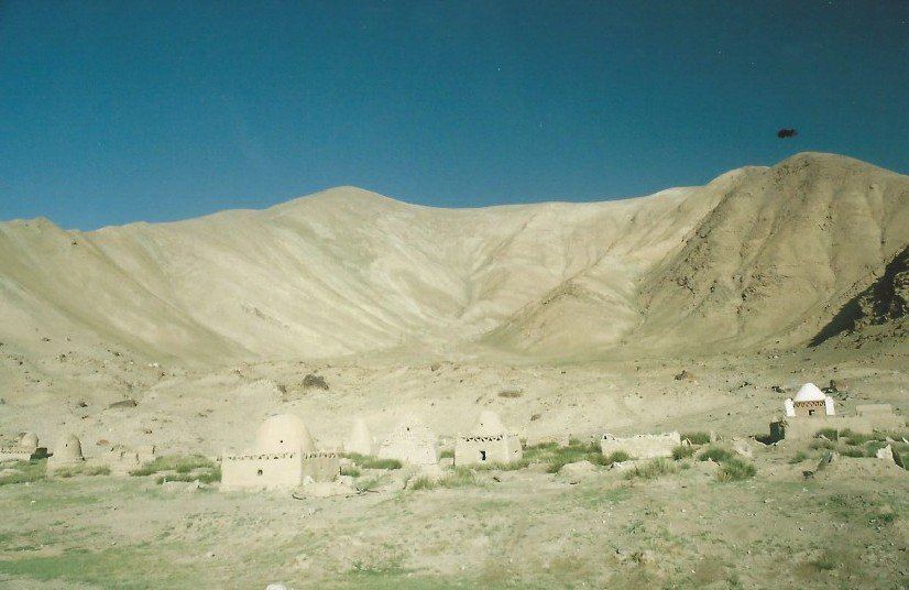 test Twitter Media - A4. I'll keep it eerie😱 These houses are graves for Kyrgyz nomads. It is said that after a life of wandering they earned a permanent place to stay after death. .... Actually I think it's quite poetic instead of eerie 🤔😊 @BradtGuides #TRLT https://t.co/mtbIw9KEb2