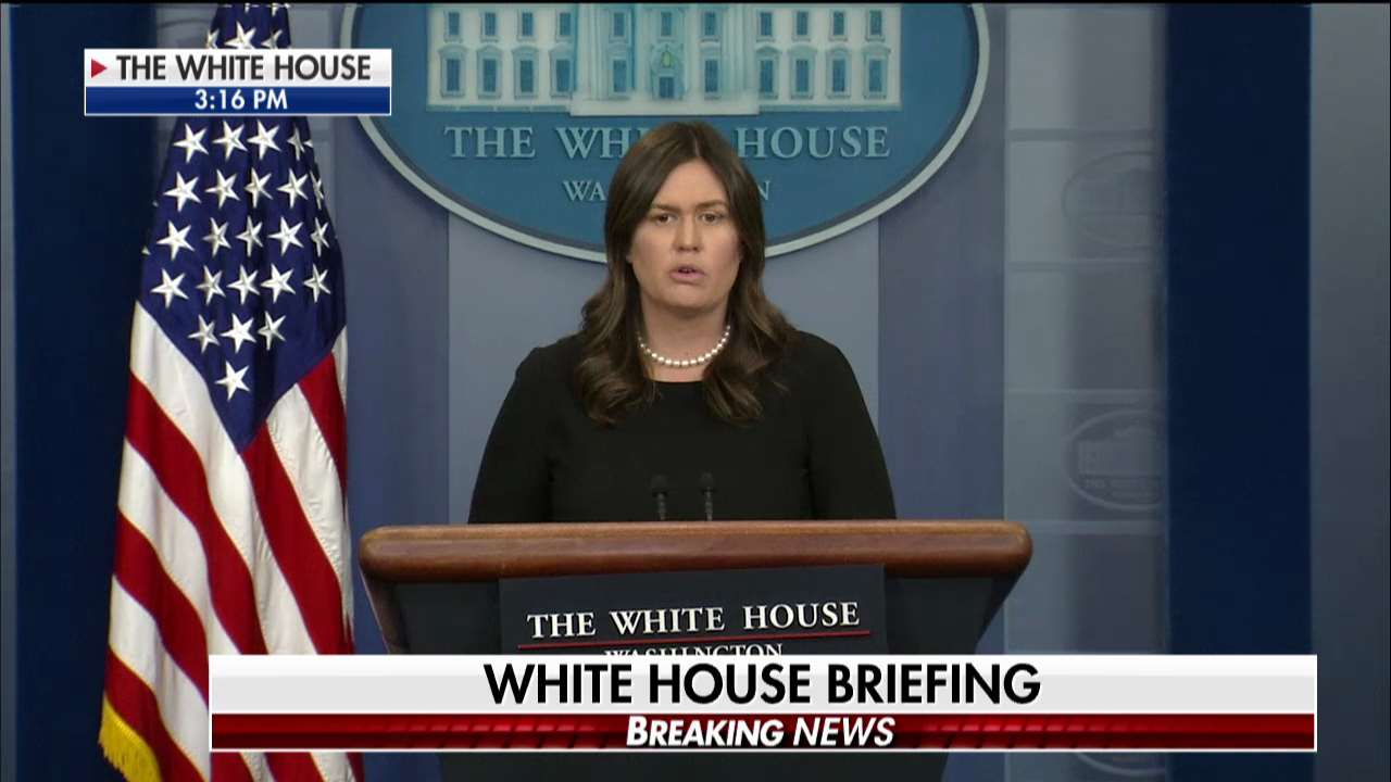 NOW: @PressSec holds the daily press briefing. Watch live on Fox News Channel! https://t.co/JWbXG489Gi