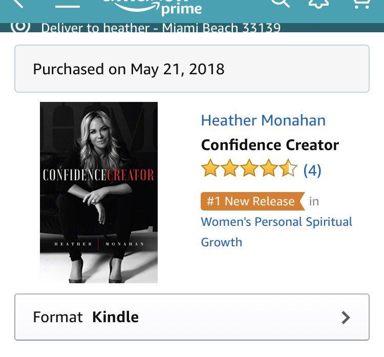 RT @_heathermonahan: My book hit #1 new release list on amazon! https://t.co/xYrwPwtkCL