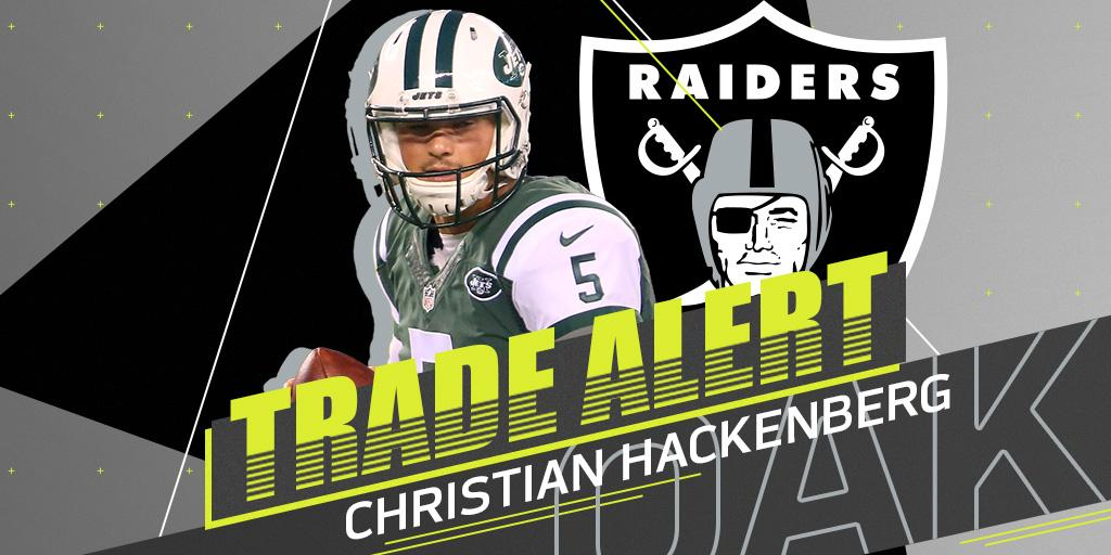 �� TRADE ALERT! ��  Christian Hackenberg (@chackenberg1) is heading to the @RAIDERS: https://t.co/pMObU3vvut https://t.co/qxF3E9hc5o