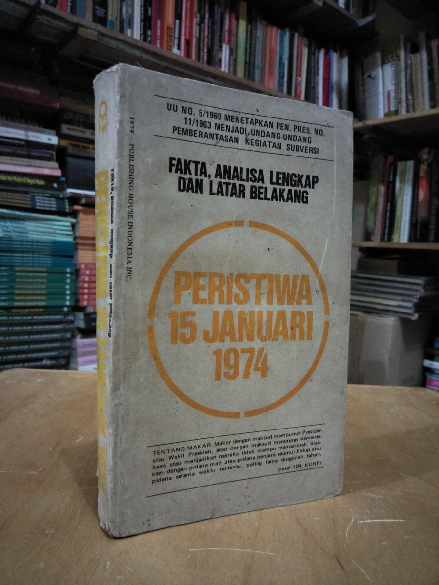 Buku Lawas> Fakta, Analisa Lengkap Dan Latar Belakang Peristiwa 15 Januari 1974. 316 Hal. Harga 125.000. Minat? https://t.co/fGgooHnviF