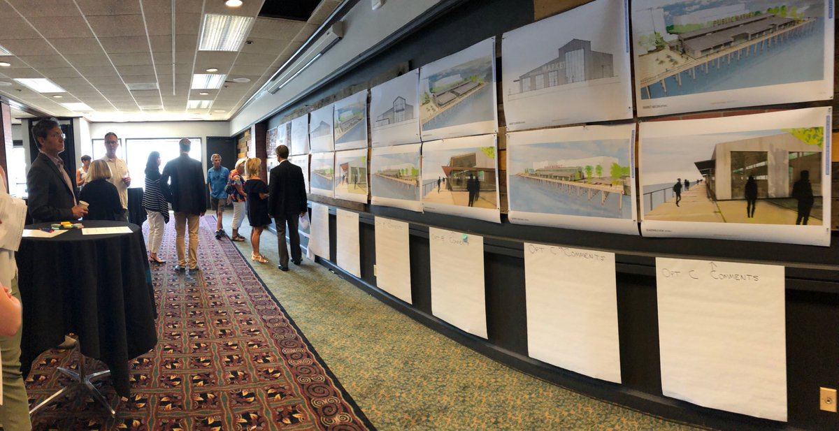 .@portvanusa is hosting an open house on its Terminal 1 public market. Project still about 3-5 years away. https://t.co/9dWrubSUVW