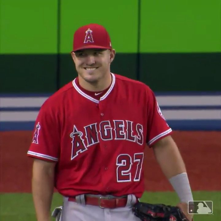 .@MikeTrout making runners think twice on the basepaths. �� https://t.co/56pVENCgrC