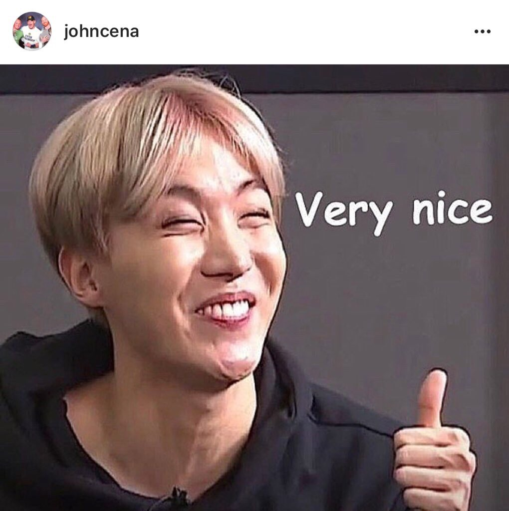 [INSTAGRAM]   John Cena just posted a pic of this meme of Hoseok ��  (https://t.co/SnpZJXVvqO)  @BTS_twt @JohnCena https://t.co/SwikY2Zzsl