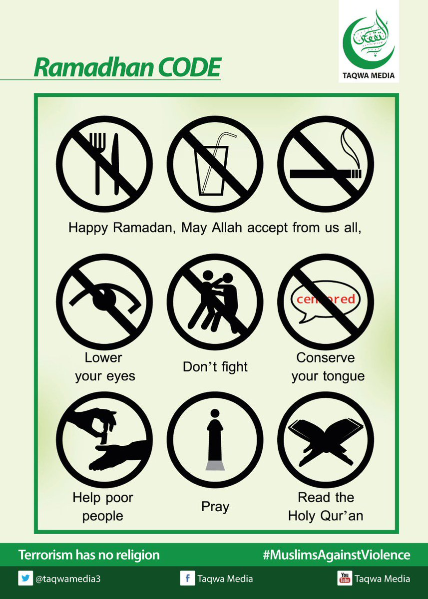 May Allah accept all our ibadha. #Ramadhan Mubarak. #MuslimsAgainstViolence https://t.co/sBv1OnexJw