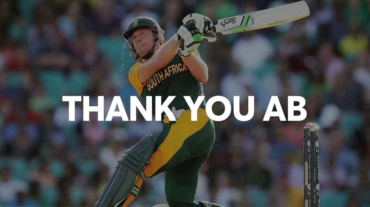 Thank you for all the memories @ABDevilliers17 ??  #ABRetires https://t.co/k1z07madj1