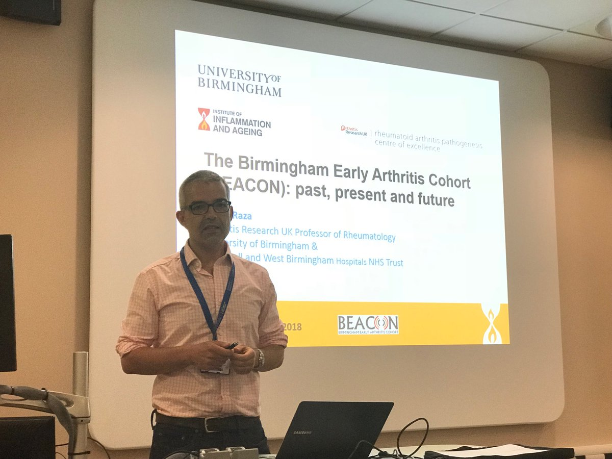 RT @a_filer: Prof Karim Raza celebrating the Birmingham Early Arthritis Cohort 800 patients! @InflamAge_UoB https://t.co/3lDUROnunP
