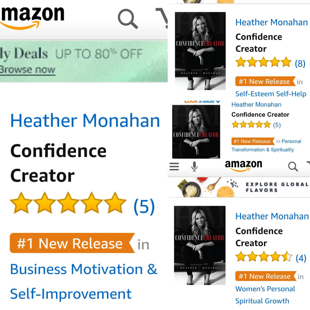 So excited Confidence Creator launched #1 in 4 categories! On amazon now https://t.co/ybLmxNiVAy