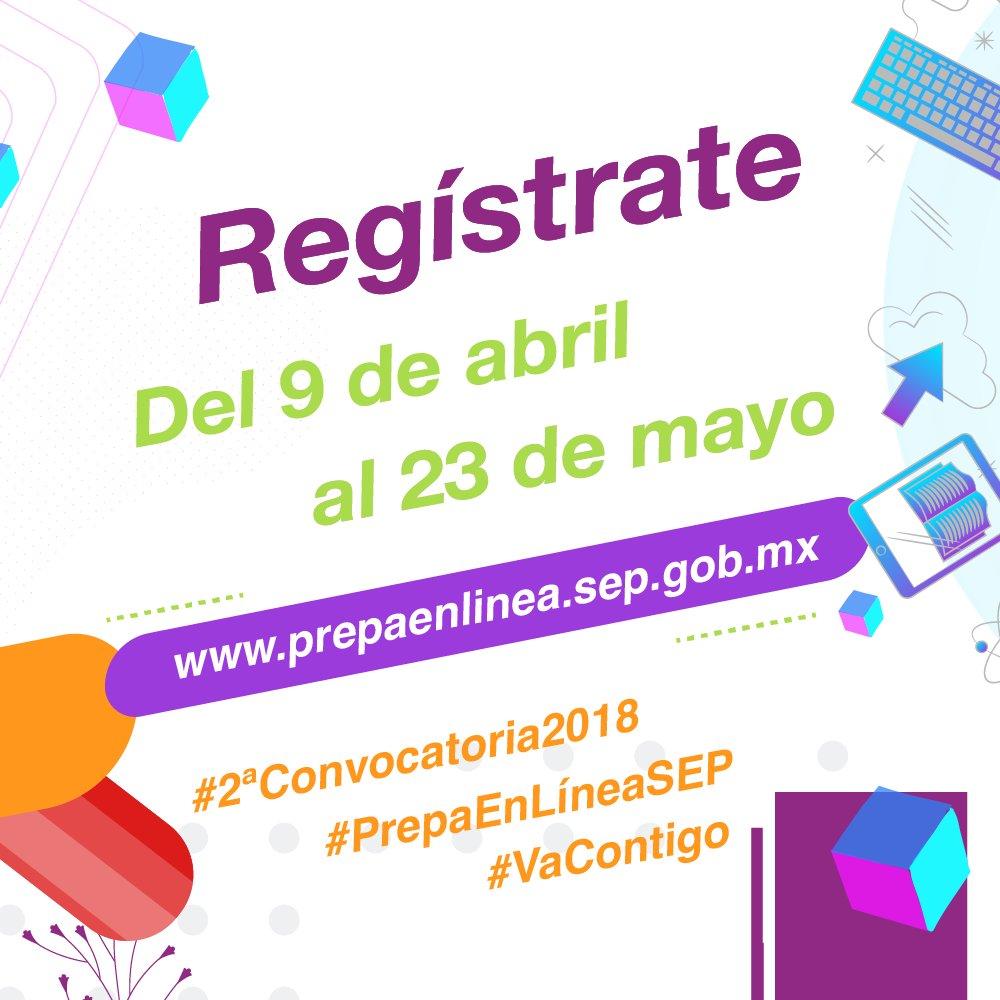 #2daConvocatoria2018  #PrepaEnLíneaSEP  Consulta los requisitos en  https://t.co/6TRob8V0yz https://t.co/f0XL308cEJ