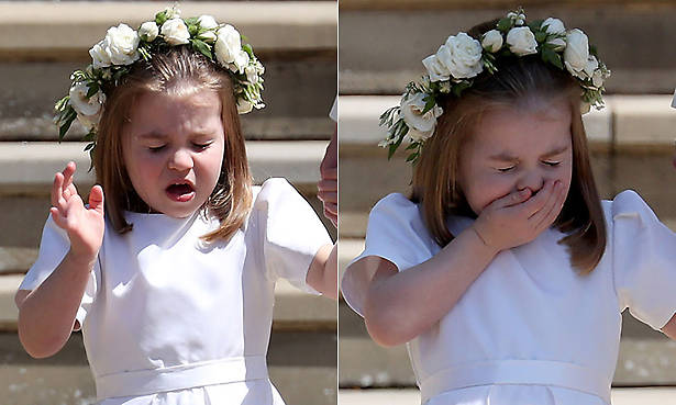 Okay, how cute is little Princess Charlotte sneezing?!