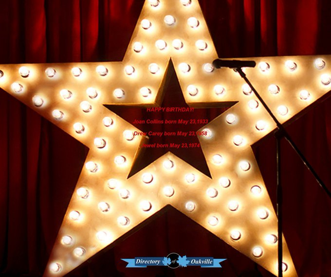 HAPPY BIRTHDAY! Joan Collins born May 23,1933 Drew Carey born May 23,1958 Jewel born May 23,1974