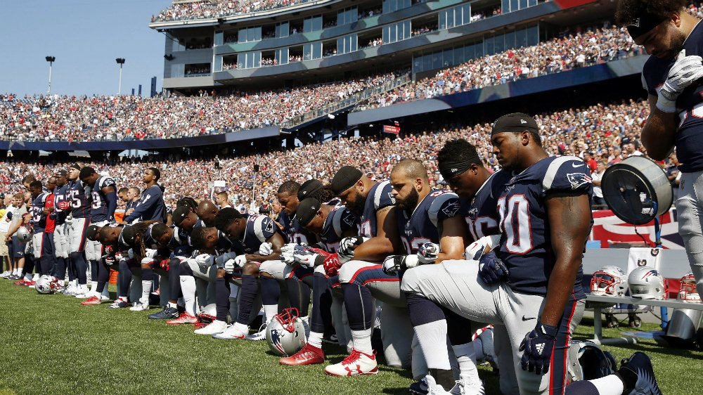 The NFL will fine teams if players kneel during the
