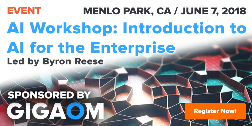test Twitter Media - Where should #Enterprises begin with #AI? Join @gigaom publisher, #AI author and CEO @byronreese in Menlo Park, June 7 for an introduction to the world of #enterprise AI. https://t.co/6Z7WJWVgvU #artificialintelligence #B2B #Tech https://t.co/7xyJY3V5eU