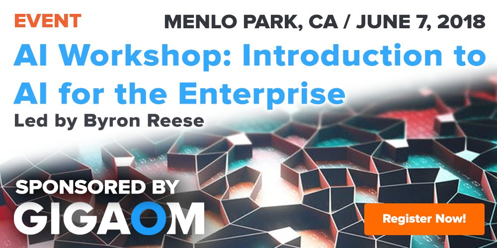 test Twitter Media - Where should #Enterprises begin with #AI? Join @gigaom publisher, #AI author and CEO @byronreese in Menlo Park, June 7 for an introduction to the world of #enterprise AI. https://t.co/6Z7WJWVgvU #artificialintelligence #B2B #Tech https://t.co/5F68ilxMl6