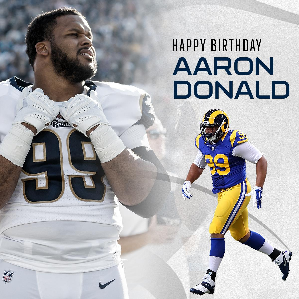 Happy 27th Birthday to the reigning Defensive Player of the Year...@AaronDonald97!! ������ https://t.co/AMv9oRgkym