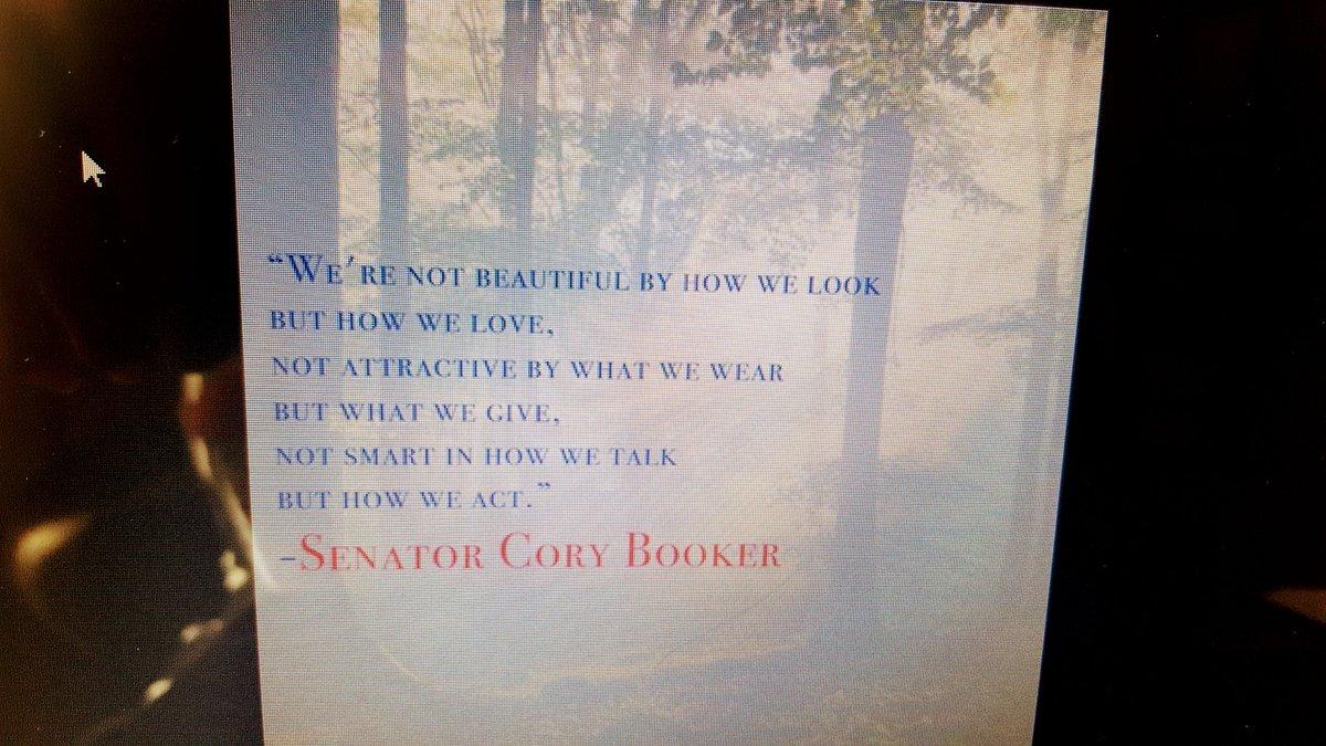 RT @Talking2017: 05 23 18 SENATOR CORY BOOKER, POEM.  HOW, SAD. https://t.co/il9UPUEfVP