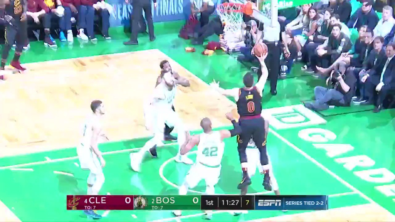 Kevin Love uses the window to open Game 5 in Boston!  #WhateverItTakes x #CUsRise  ��: @ESPNNBA https://t.co/vWeUVdmImX
