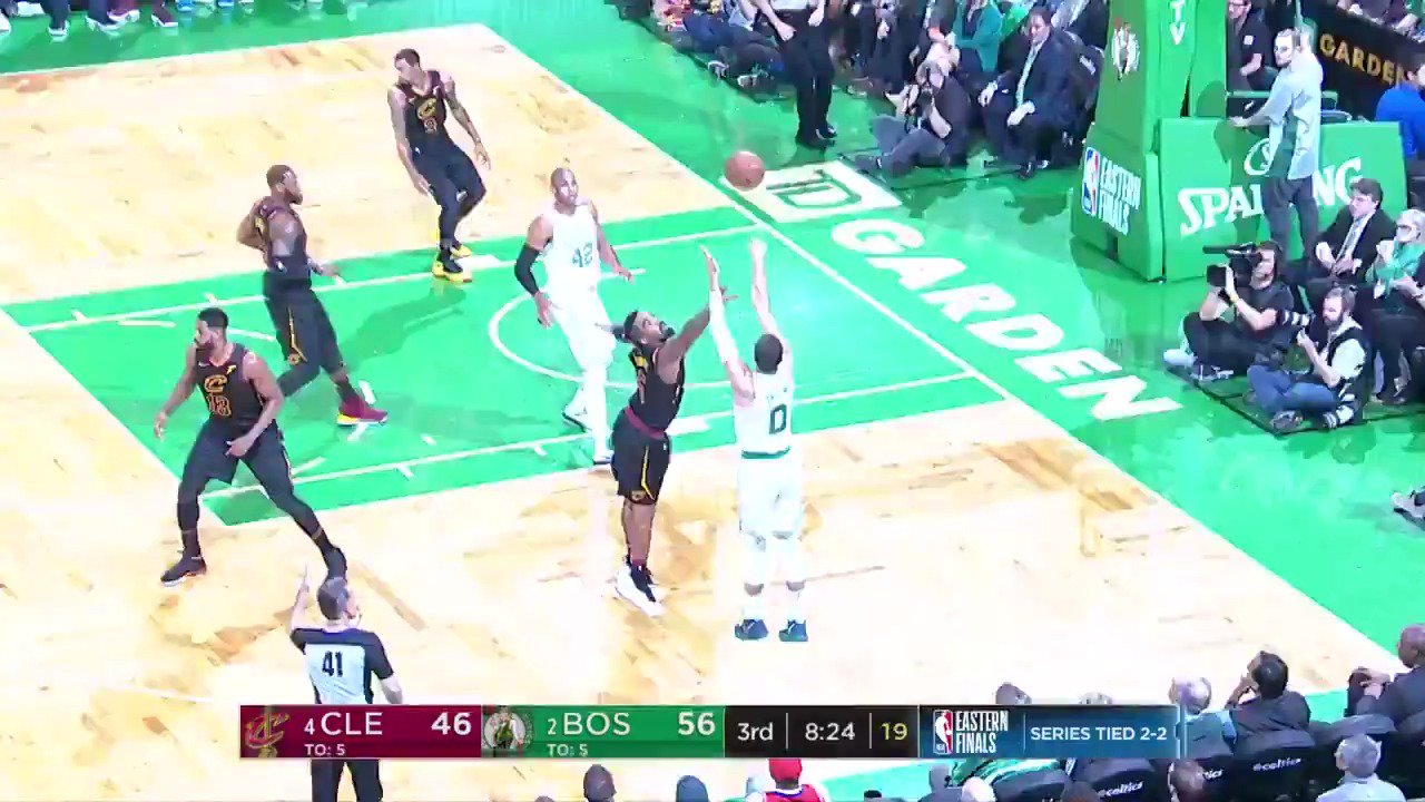The @celtics pour in 13 triples to take a 3-2 Eastern Conference Finals advantage!   #CUsRise #NBAPlayoffs https://t.co/EX2MwhRoYG