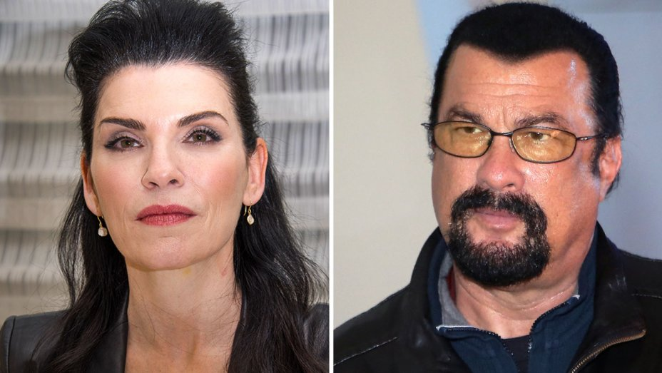 """Julianna Margulies recalls a meeting with Steven Seagal and his gun: """"I was scared"""""""