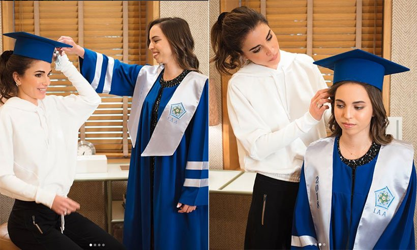 Proud mum! Queen Rania congratulates daughter Princess Salma on graduation:
