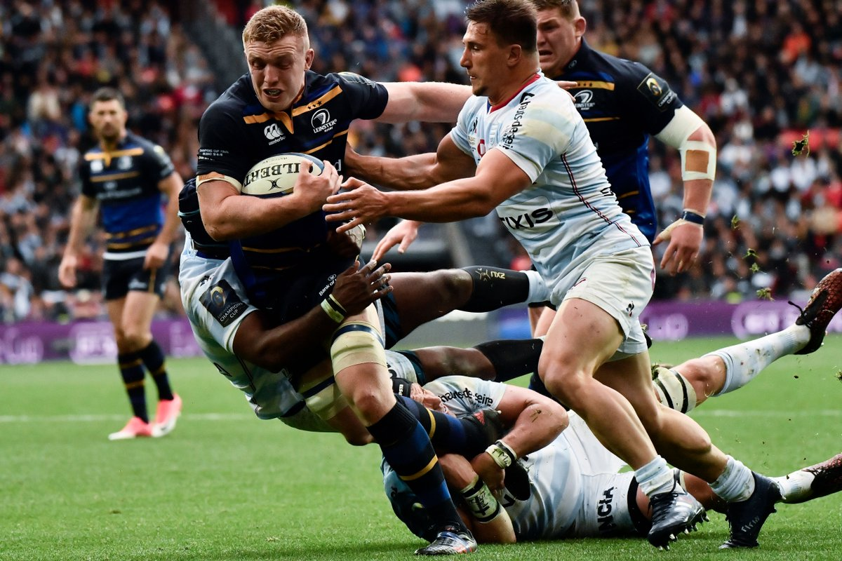 test Twitter Media - HALF-TIME! Nakarawa does well to escape a yellow card for a deliberate knock-on, but Sexton nails the resulting penalty to make it 6-6 at the break. Watch the Champions Cup final live on Sky Sports Action now or follow: https://t.co/trxLAYtoLL https://t.co/JBkST0r9Ik