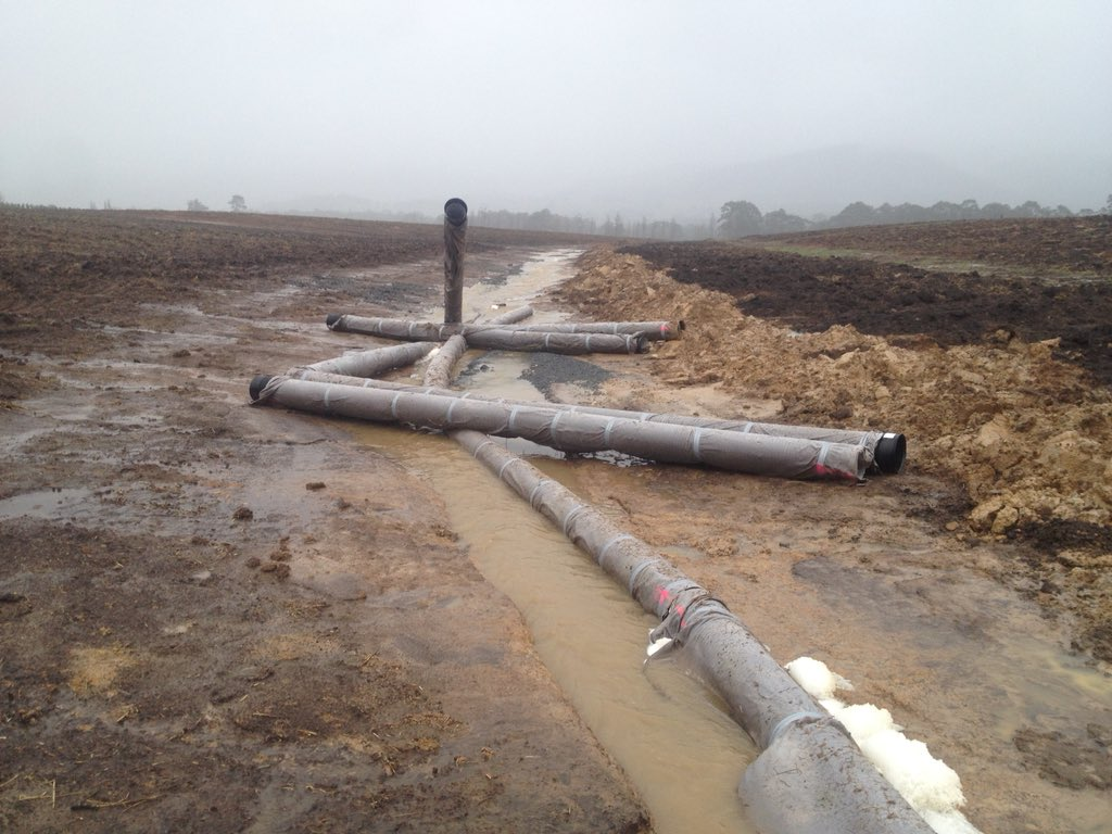 $30,000 worth of subsurface drain pipe under...