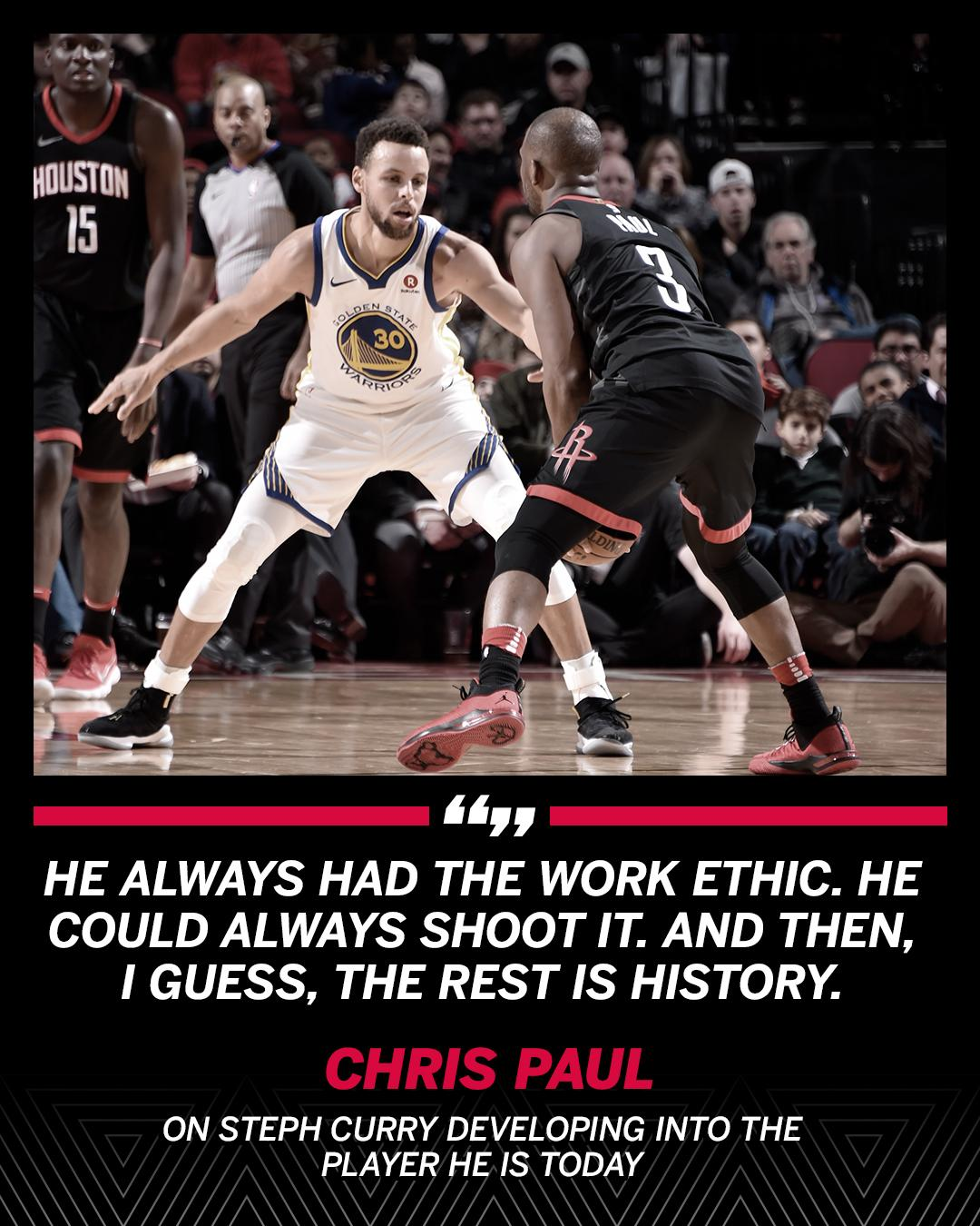 CP3 always knew Steph Curry had the potential to be one of the NBA's best. https://t.co/fA1qc1iZ1a