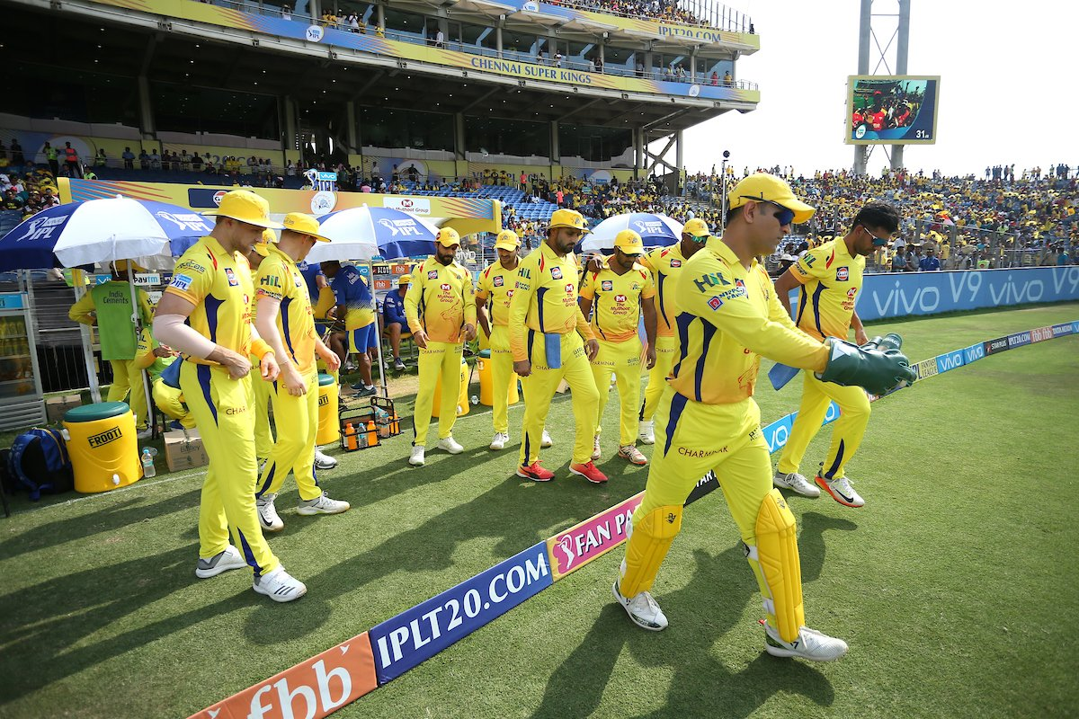 The @ChennaiIPL walking into the #VIVOIPL Playoffs like ?? https://t.co/p4R3WiVPIg