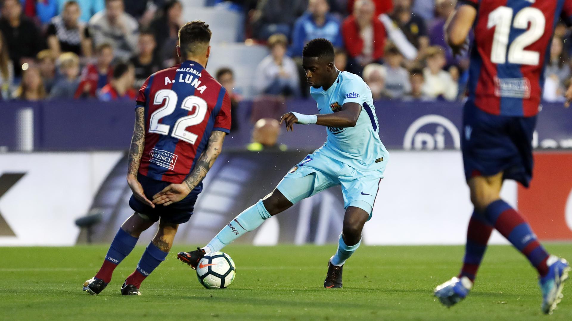 �� 60: Double change for Barça. Alcácer and Denis on for Iniesta and Dembélé #LevanteBarça https://t.co/o1Kch5dUBD