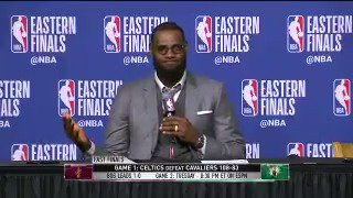 LeBron gives a play-by-play from memory on what happened during a Celtics 2nd-half run. �� (Via @NBATV) https://t.co/UXs4HkKqa0