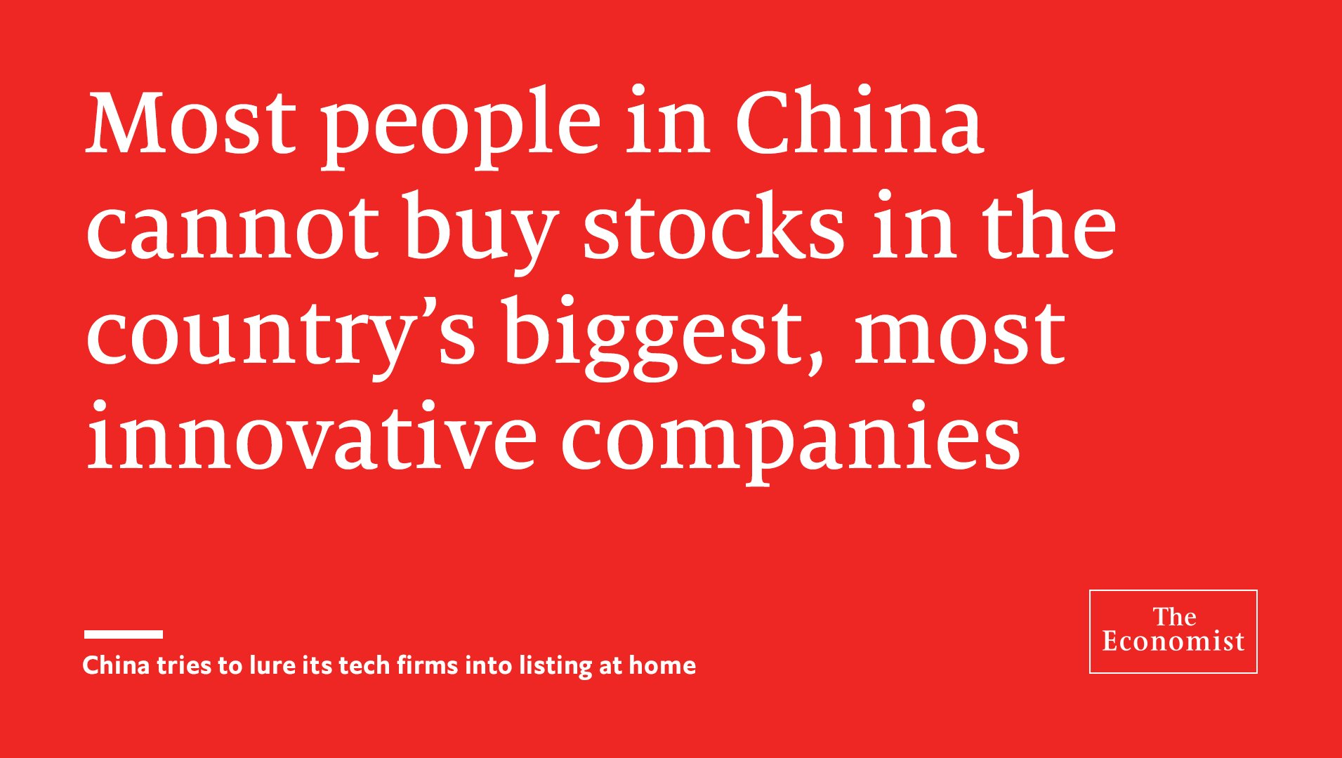There are pros and cons to listing in China but the political imperative trumps all https://t.co/blL0eguMZV https://t.co/IrmeqF496O