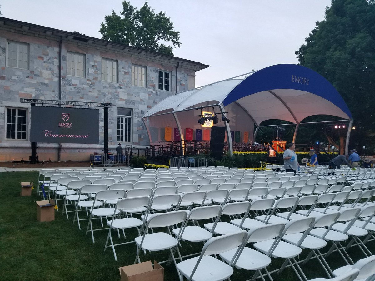 The calm before the Commencement #Emory2018 https://t.co/5ZFdViKbFb