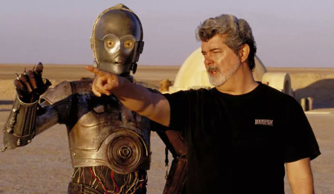 Thank the maker!! Happy Birthday to the first ever Jedi Master, George Lucas! 74 today!