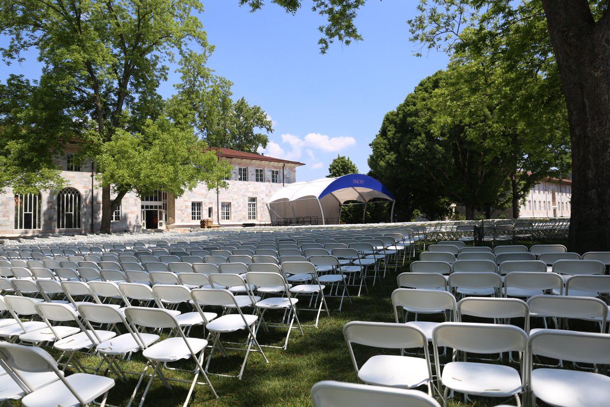 Commencement will commence shortly. Watch it here: https://t.co/kBBohqfqzI #Emory2018 https://t.co/xM9eyj2gRc
