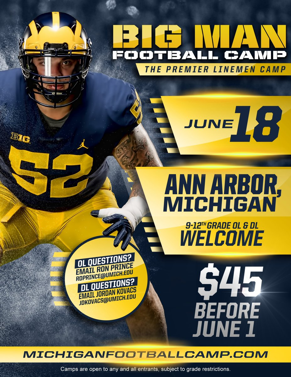 Big Men in The Big House.   JOIN US » https://t.co/ao1FcSU2d2   #GoBlue https://t.co/TiydpiPOAE