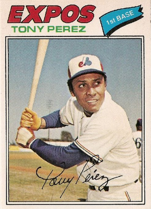 Happy birthday to Baseball Hall of Famer Tony Perez, who turns 76 today. He played for the Expos from 1977-79.